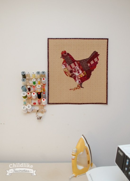 Chicken Marsala Mini Quilt Pantone Challenge 2015 Entry
