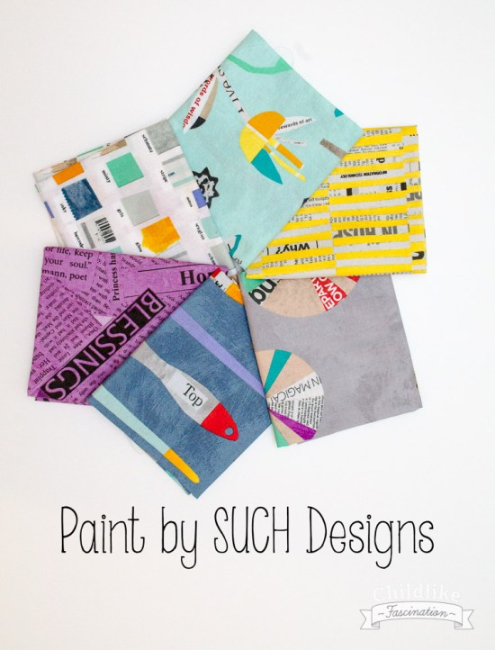 Sunday Stash! Fat Quarters of Paint by SUCH Designs