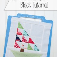 Sailboat Quilt Block Tutorial (Part 2: The Mast & Hull)