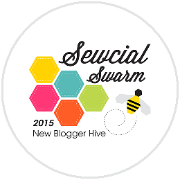 Sewcial Swarm Blog Hop Button
