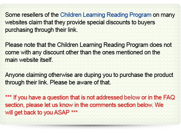The Official Review Website Of Children Learning Reading Program