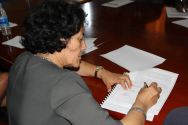 Leila Zerrougui, UN Special Representative for Children and Armed Conflict, witnessed the agreement.©OSRSG-CAAC