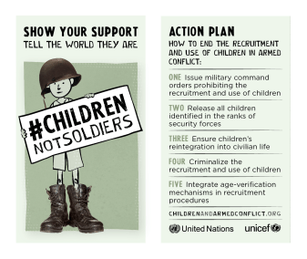 Children Not Soldiers Action Card