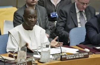 Olara Otunnu, Représentant spécial pour les enfants et les conflits armés, au Conseil de sécurité le jour de l'adoption de la Résolution 1612. Copyrights: Photo ONU