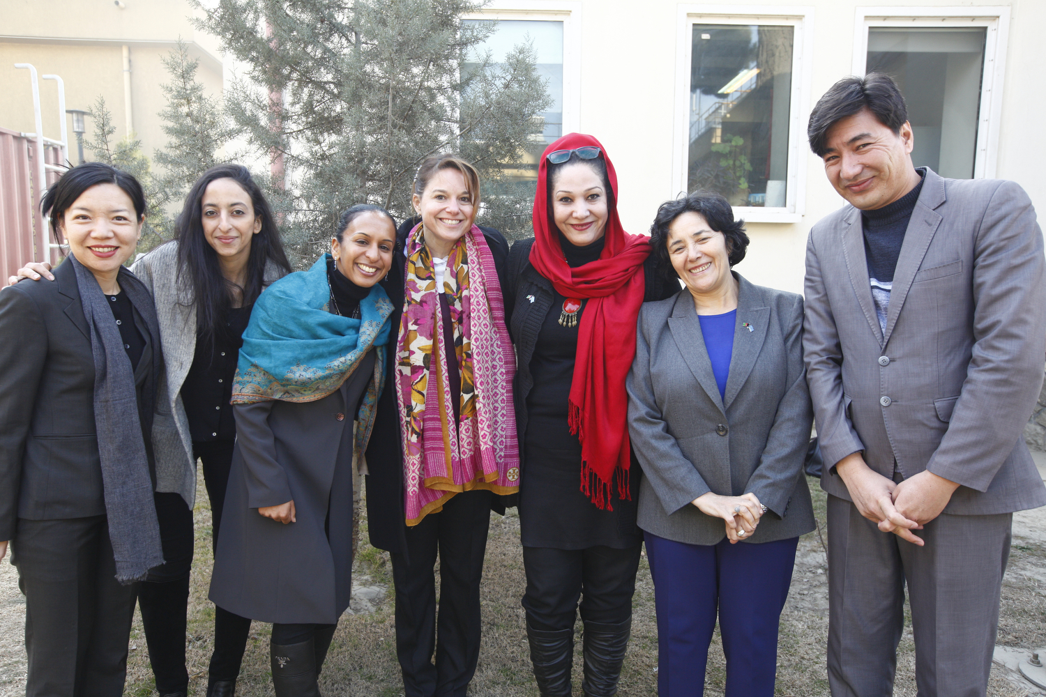 Leila Zerrougui poses with colleagues from UNAMA at the end of her mission to Afghanistan. ©UNAMA
