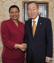 Graça Machel and Ban Ki-moon. Copyrights: UN Photo
