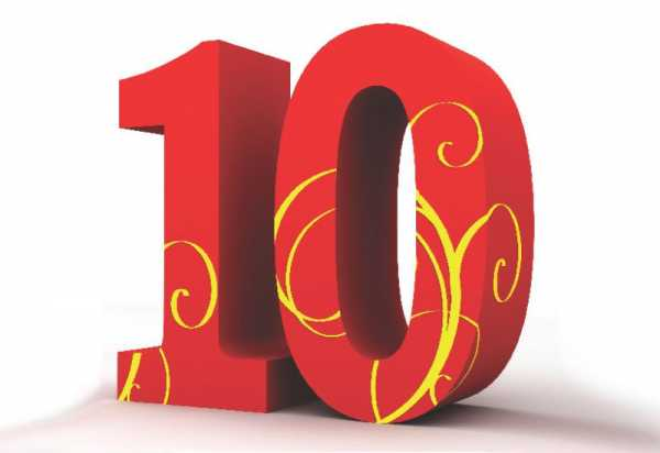 Красивая цифра 10 – Картинки 10 (39 фото) ⭐ Забавник