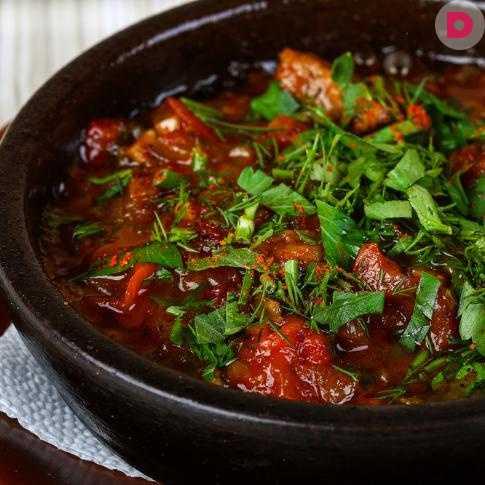 Рецепт мяса с баклажаном – 14