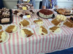 A volunteer hosted a large tea party in Bournemouth