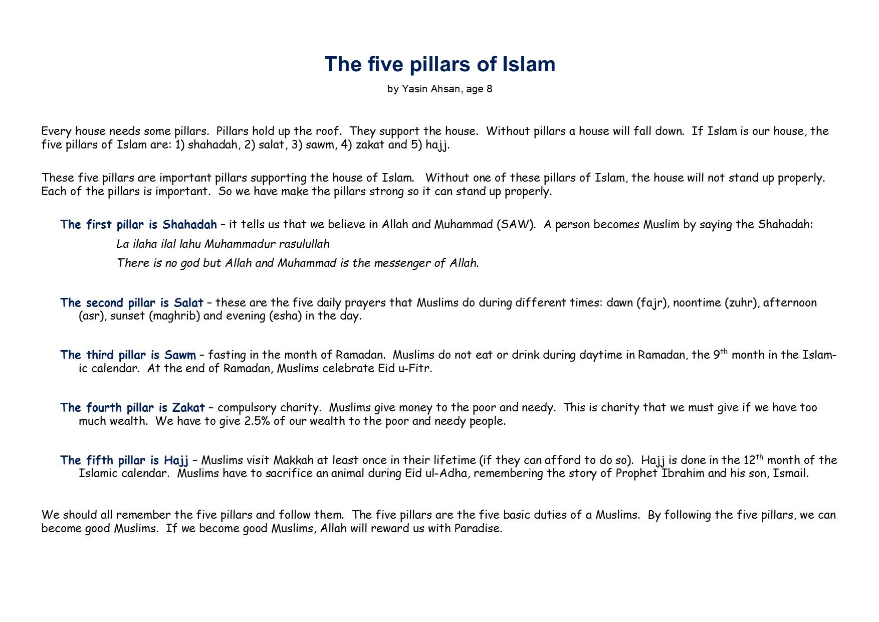 Worksheet 5 Pillars Of Islam Worksheet Worksheet Fun