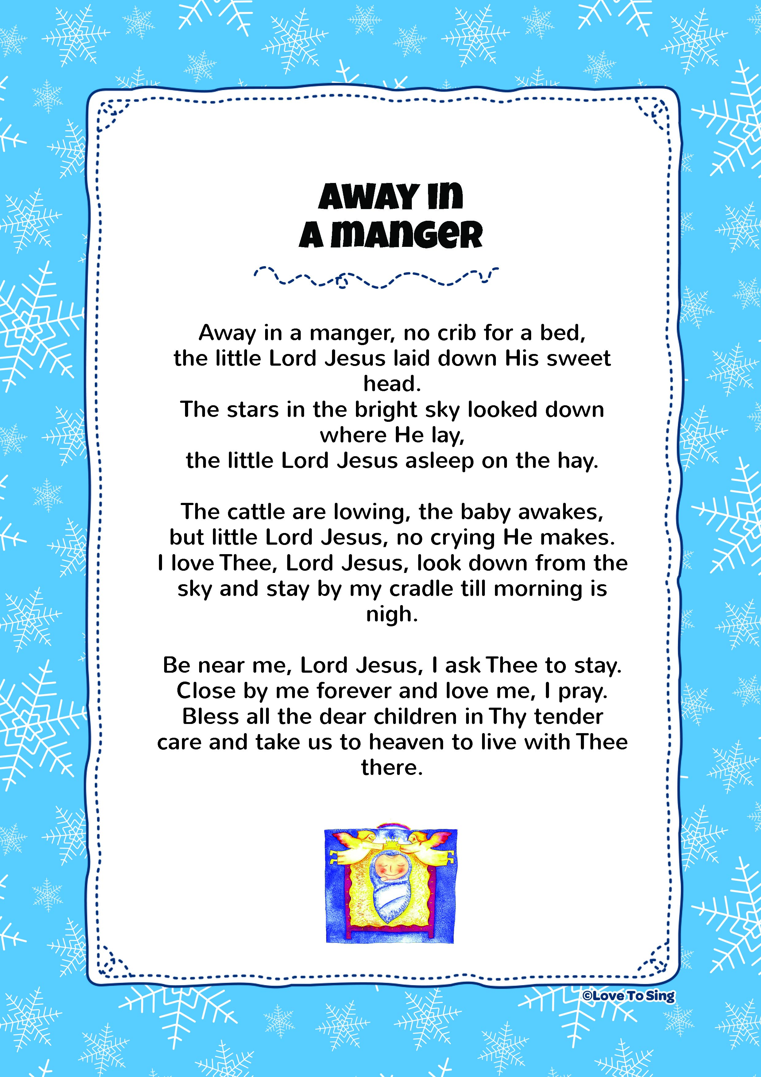 Printable Words To Away In A Manger