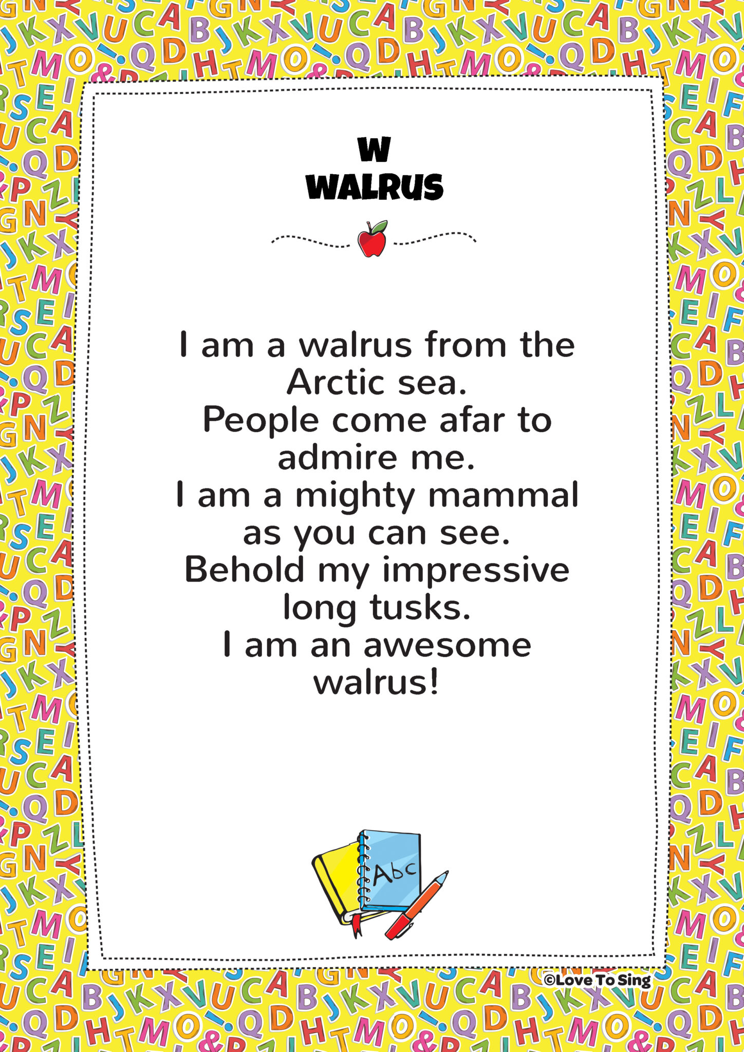 W Walrus Phonics Song