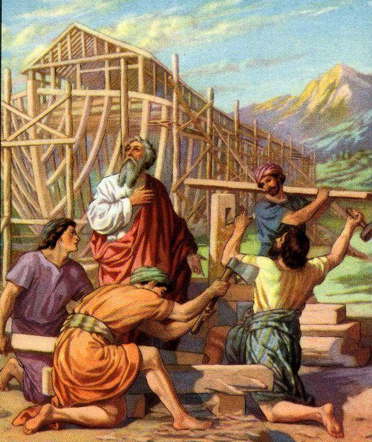 Noah's son building the ark