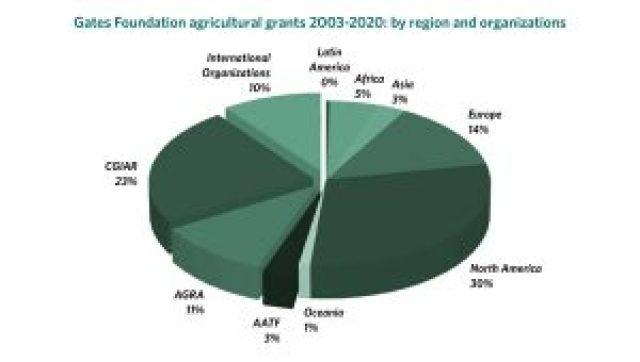 Granty Fundacji Gates Ag według regionów