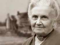 Black and white image of Maria Montessori from Montessori Quotes
