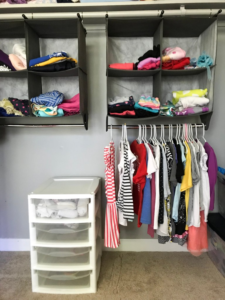 encourage independence in young children: low closet organizer