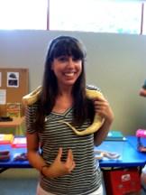 Austin with the Burmese Python!
