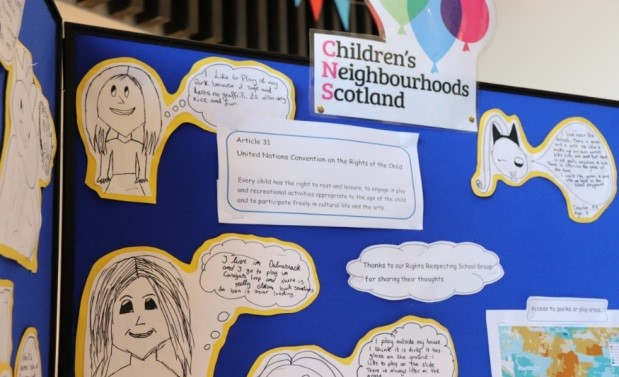 board with children's points of view