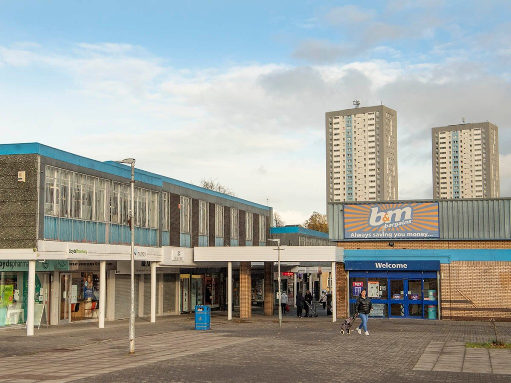 View of Drumchapel shopping centre