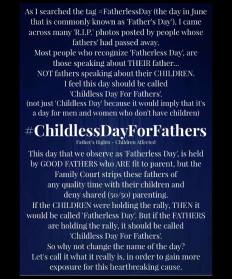 Childless Day for Dads - 2016