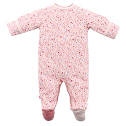 Bebe Isabel Owl Long Sleeve Wrap Romper with feet