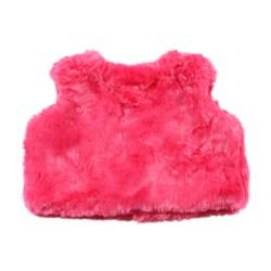 Bebe Isabel Fur Vest – Pop Pink