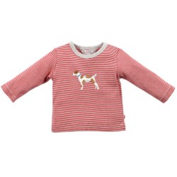 Bebe Max red stripe dog tee