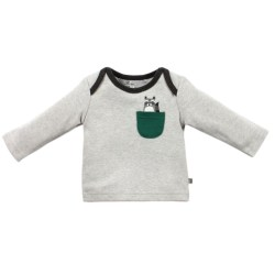 Bebe Axle Racoon Long Sleeve Pocket Tee