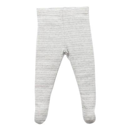 Bebe Aiden Silver stripe footed leggings