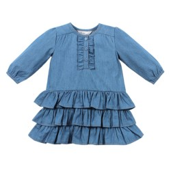 Bebe Isabel Long Sleeve Chambray Dress