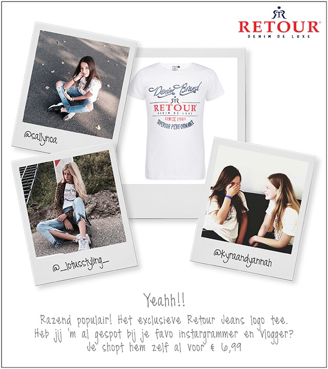 Musthave onder de fashion girls de Retour logo Tee