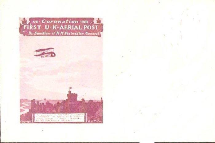Primer Correo Aéreo Londres-Windsor y una postal chilena