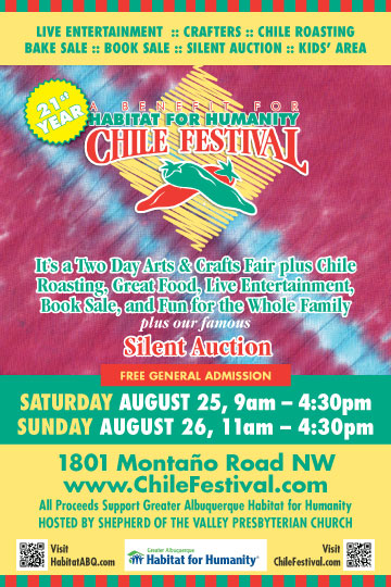 2018 Chile Festival to Benefit Habitat for Humanity Poster