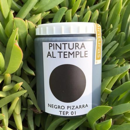 Pintura Ecologica Negro Pizarra 1 Litro