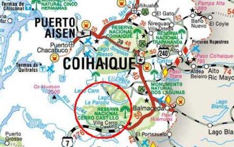 Resultado de imagen de reserva nacional cerro castillo mapa