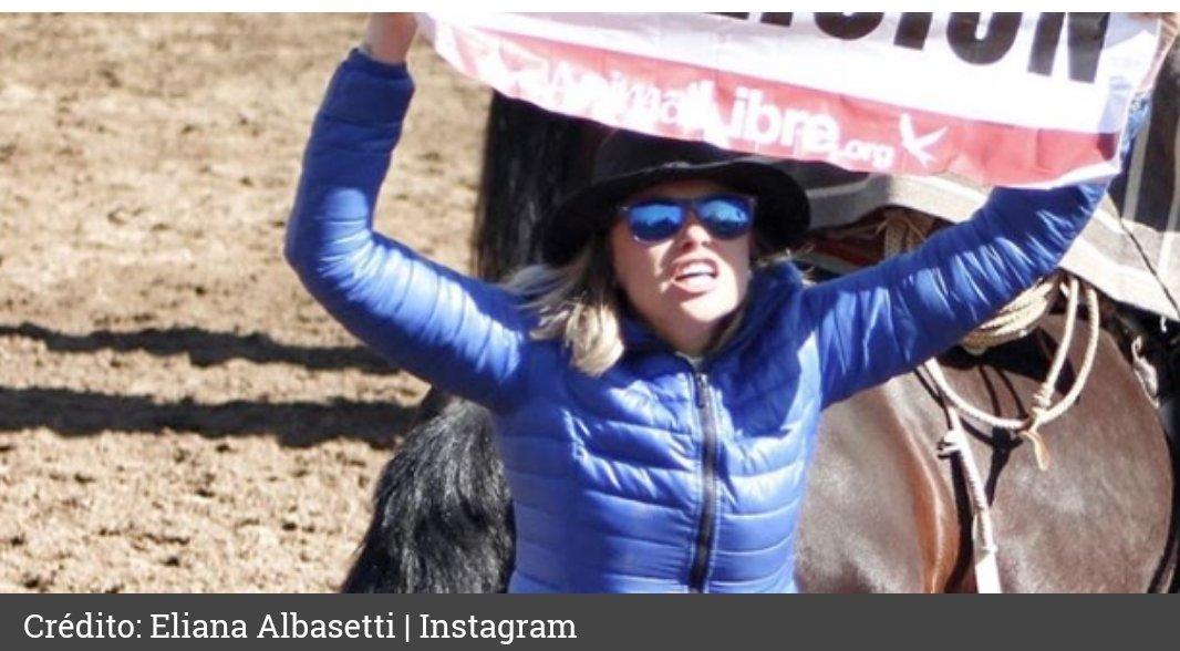 Eliana Albasetti INTERRUMPE RODEO en protesta animalista