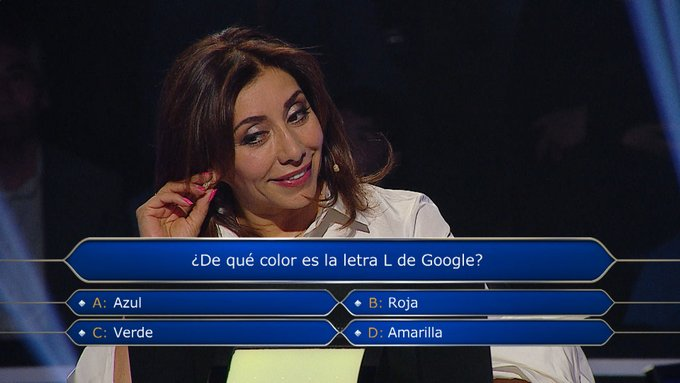 De que color es la letra L de Google? La pregunta que dejó FUERA a Carmen Gloria Arroyo de QQSM