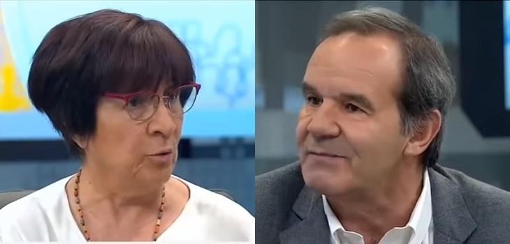 «Cállese usted»: el tenso cruce entre Carmen Hertz y Andrés Allamand por cambio a la constitución
