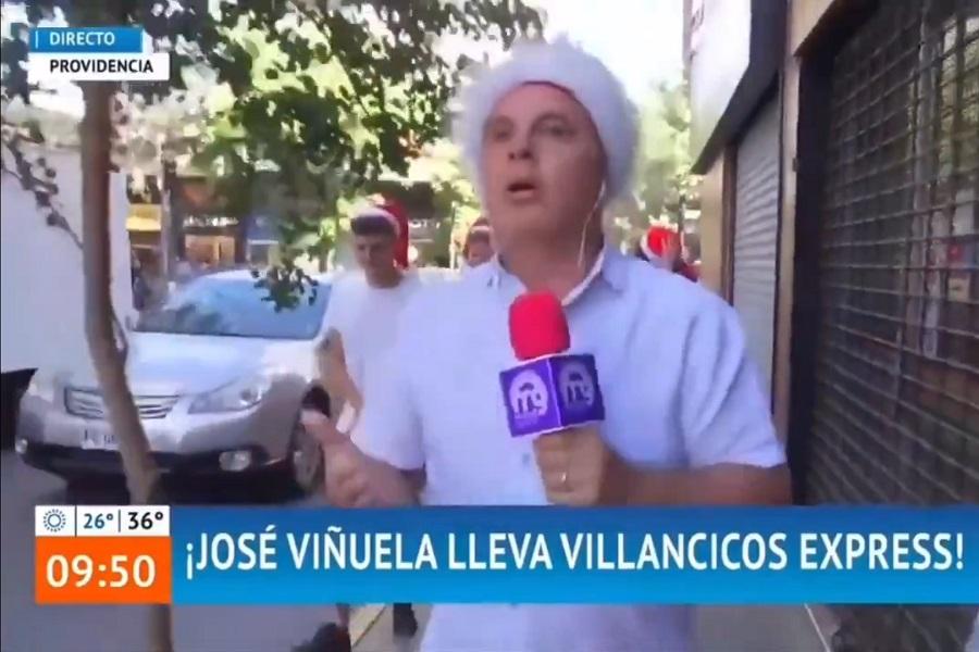 """""""Tranquilo, papá"""": José Miguel Viñuela sufrió intento de agresión en despacho en vivo"""