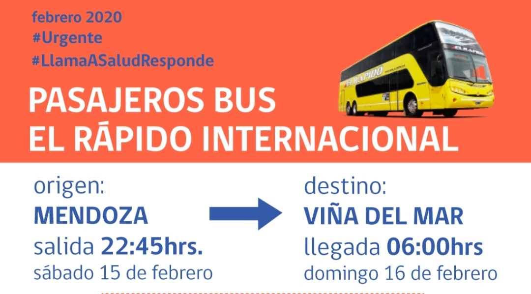 Se busca con URGENCIA a pasajeros de bus para tratarlos de VIRUS MORTAL