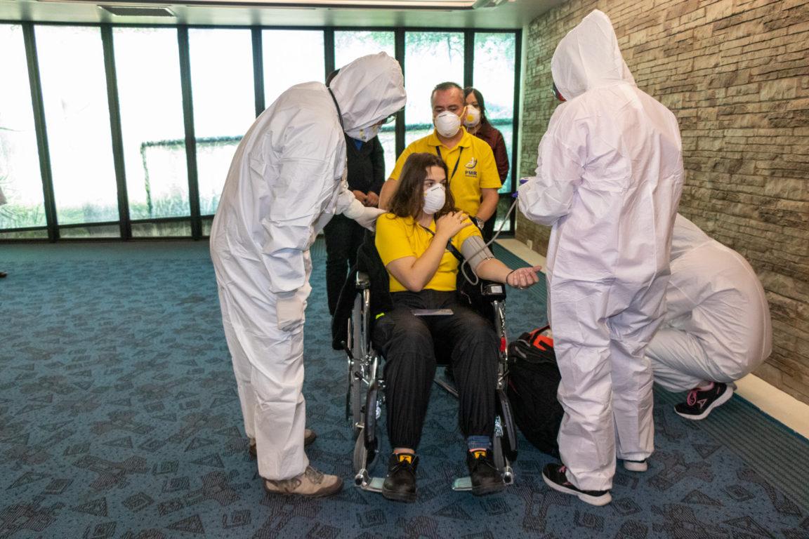 Seremi de Salud realiza SIMULACRO de CORONAVIRUS en aeropuerto de Santiago