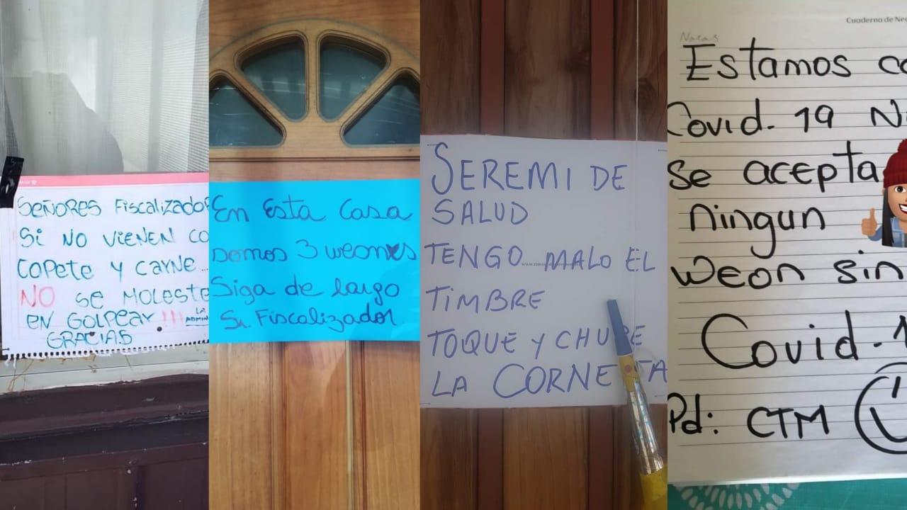 Hogares PENQUISTAS instalan INGENIOSOS letreros en espera de la FISCALIZACIÓN