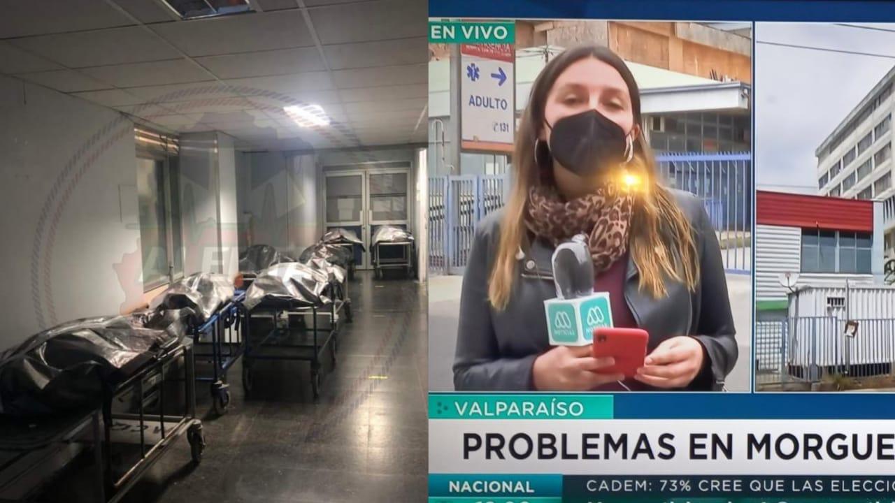 Confirman COLAPSO DE MORGUE en hospital de Valparaíso, cadáveres descansan en PASILLOS