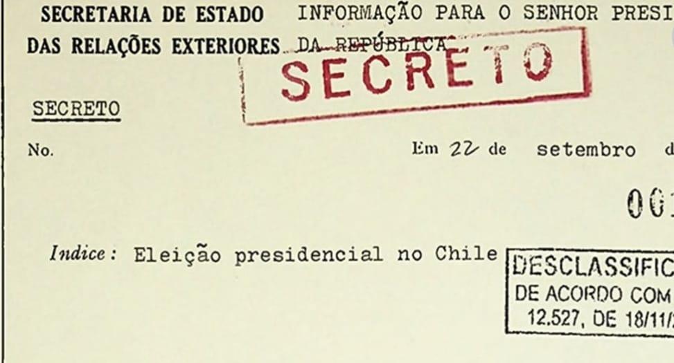 Documentos desclasificados por EEUU revelan que Brasil fue CÓMPLICE para DERROCAR a Allende