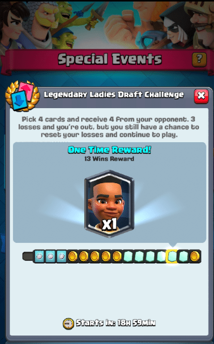 Clash Royale New Legendary Ladies Draft Challenge update