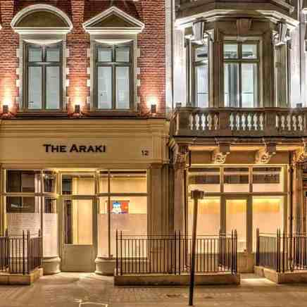 ARAKI Restaurant London Fit-out Works competion photos