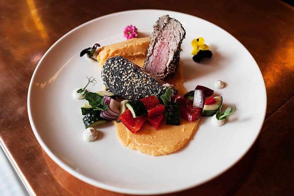 Tuna Steak w Sesame & Poppy Seed Crust