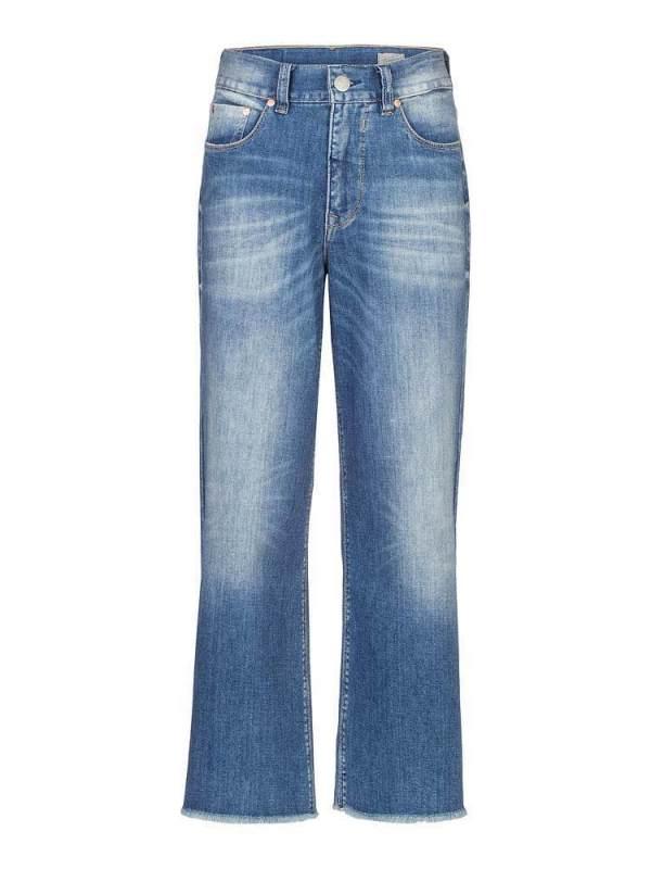 Herrlicher-Super-G-Flared Cropped-Jeans