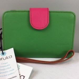Soruka-Geldbörsen-fairhergestellt-unikate-grün/pink