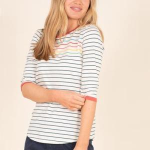 Brakeburn Stripe Tee 3/4 Arm